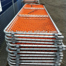 1.2M High Visibility Orange Security Barrier with Plastic Coated Chain Link Fence