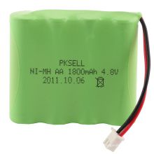 Paquet de batterie rechargeable de Ni-Mh AA de haute qualité 4.8V 1800mAh
