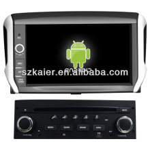 Android system car stero for Peugeot 208 with GPS/Bluetooth/TV/3G/WIFI