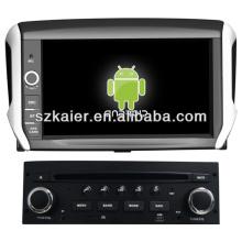 Esteróide de carro do sistema Android para Peugeot 208 com GPS / Bluetooth / TV / 3G / WIFI