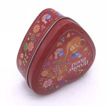 Custom Heart Shape Tin Gift Box Packaging