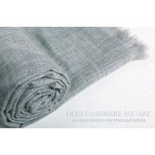 Shawl de lã mercerizada tingida super fina
