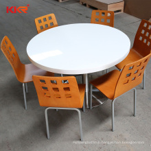 Dinning Round shape table set resin tops Dining Table with 4pcs Chairs kitchen table