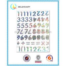 ПВХ/Ева блеск наклейка письма алфавит для детей