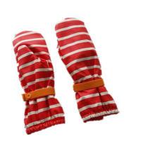 Rayure rouge PU imperméable à l'eau de pluie gant mitaine/pluie/imperméable avec Buttom pour bébé/Chilid