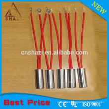 Stainless steel threaded fitting cartridge heater