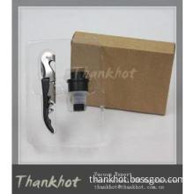 Food grade Wine tool set with wine saver and corkscrew