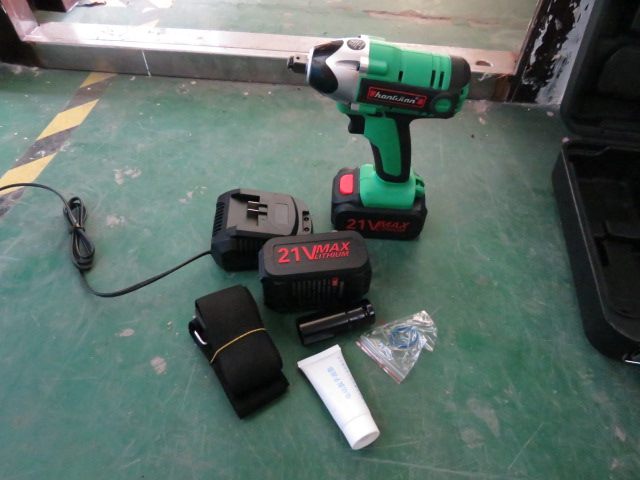 21V Lithium battery cordless impact wrench