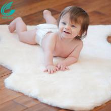 tapis de bébé en peau de mouton d'agneau australien de luxe