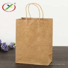 Bolsas de papel de compras Kraft para supermercado