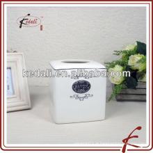 Caixa de papel de tecido de porcelana com pedaço de ferro