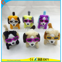 Hot Item Charming Fashion Soft Plush Electric Walking Barking Colorful Puppies for Birthday Festival Gift