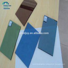 High quality 10mm 12mm stained factory supplier tinted float tempered glass
