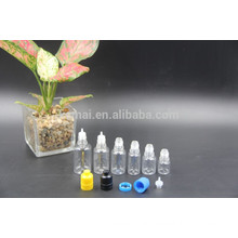 5ml/10ml/20ml/25ml/30ml PET transparent oil bottle with pressure screw cap