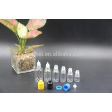 5ml / 10ml / 20ml / 25ml / 30ml Frasco de óleo PET transparente com tampa de rosca de pressão