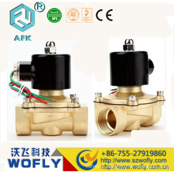brass N/C 2 way 40mm solenoid valve water
