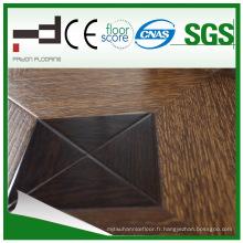 Plancher stratifié par parquet classique de stratifié d'U du moule HDF de 12mm d'art