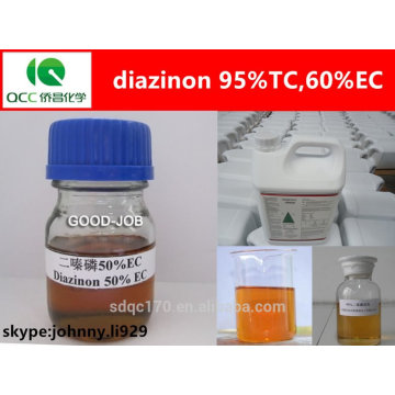 Diazinon 60% EC Insecticide, diazinon 95% tc, cas: 2921-88-2-lq