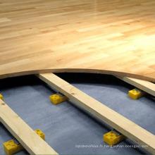 Coût de plancher de court de tennis de bois dur d'intérieur