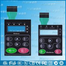 Interruptor de membrana de techo metálico de botón plano impermeable con ventana de LCD transparente
