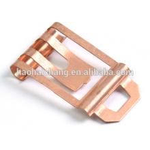Shrapnel de cuivre avec le processus d'estampillage en métal de commutateur