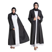 Robe musulmane dubai Abaya femmes musulmanes fantaisie long islamique Vêtements filles arabes perle robe noire abaya