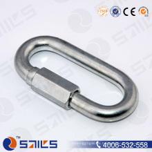 Tipo comercial Enlace rápido chapado en zinc con tornillo