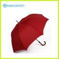 Guarda-chuva de golfe tamanho grande abertura manual com cabo de madeira