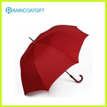 Paraguas de golf grande de apertura manual con mango de madera
