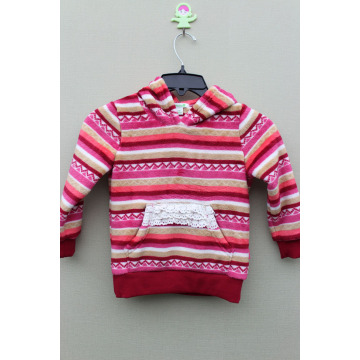 100%POLYESTER CORAL FLEECE GIRL`S JACKET Pullovers