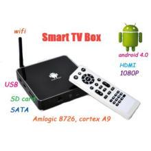 android TV set top box OS 4.0,480i-1080P,AV,HDMI,USB,SD,SATA host