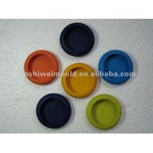 coloridos platillos moldeados de silicona