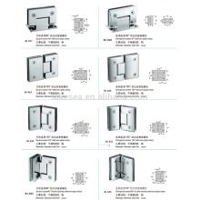 pinces en verre d'acier inoxydable / matériel de porte en verre / pince en verre de salle de bains
