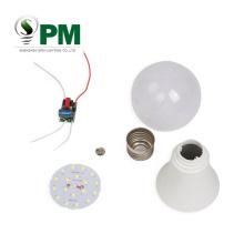 110V-265V High quality 600lm lamp plastic led bulb spare parts