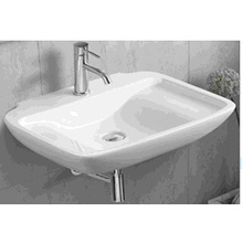 1236 bassin de salle de bain rectangulaire en céramique