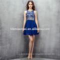 2017 royal mini diseño azul 2 unids set vestido de noche sin respaldo heavey rebordear vestido de dama de honor tradicional