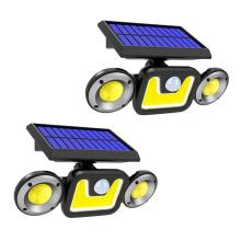 3 Head Security Lights Waterproof Light Outdoor Wall Solar Powered PIR Motion Sensor Solar Light