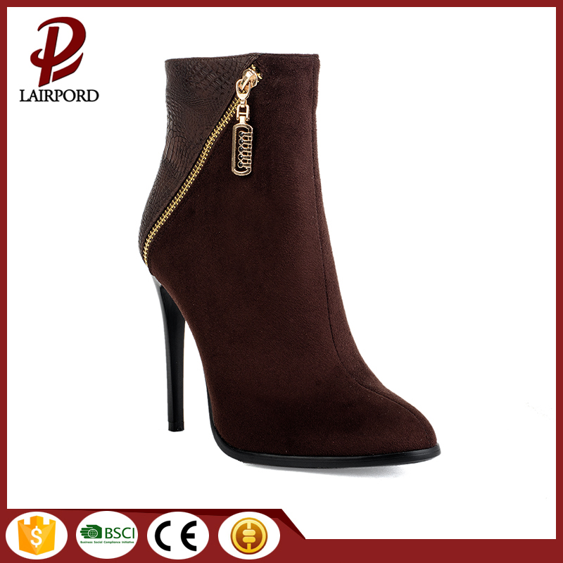 high quality suede rubber short ankle boots
