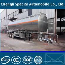 Semi-remorque de réservoir liquide en aluminium de capacité élevée de 46500L semi