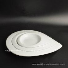 Gota lisa da chuva da cor do hotel americano prato de porcelana