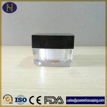 Nova chegada Popular 50 g quadrado acrílico frasco de creme