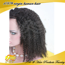 Olhando para os importadores de cabelo humano indiano para o laço completo kinky afro perucas de cabelo humano para as mulheres negras
