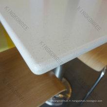 tables de cafétéria à surface solide design moderne
