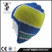 Sombrero del invierno de la guarnición del paño grueso y suave de la orejera de los hombres