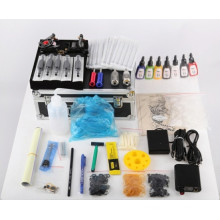 Popular Beginner Tattoo Kit Set 7color Inks Power 2 Guns