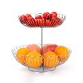 Detachable strainer stainless sink basket fruit 2 tier