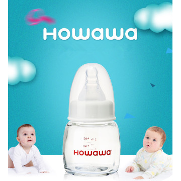 2oz Baby Glass Milk Bottle Without Handle