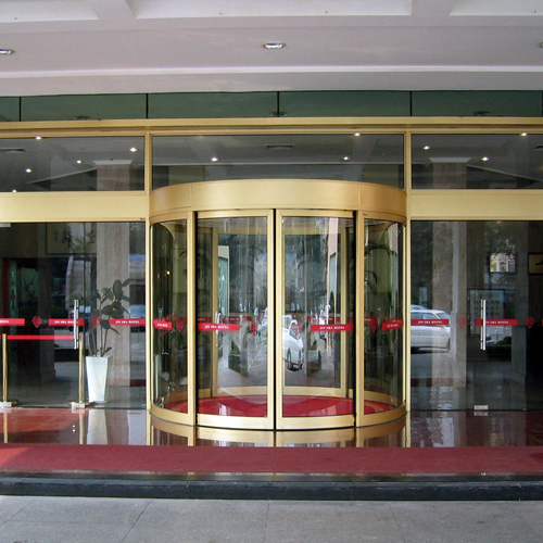Automatic Curved Sliding Doors for Commercial