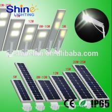 Nova Qualidade de Design garantida Lâmpada Led para iluminação de rua Tudo em um levou luz de rua solar integrada com interruptor de sensor de movimento