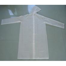 White Color Transparent PVC Rain Coat for Cycling